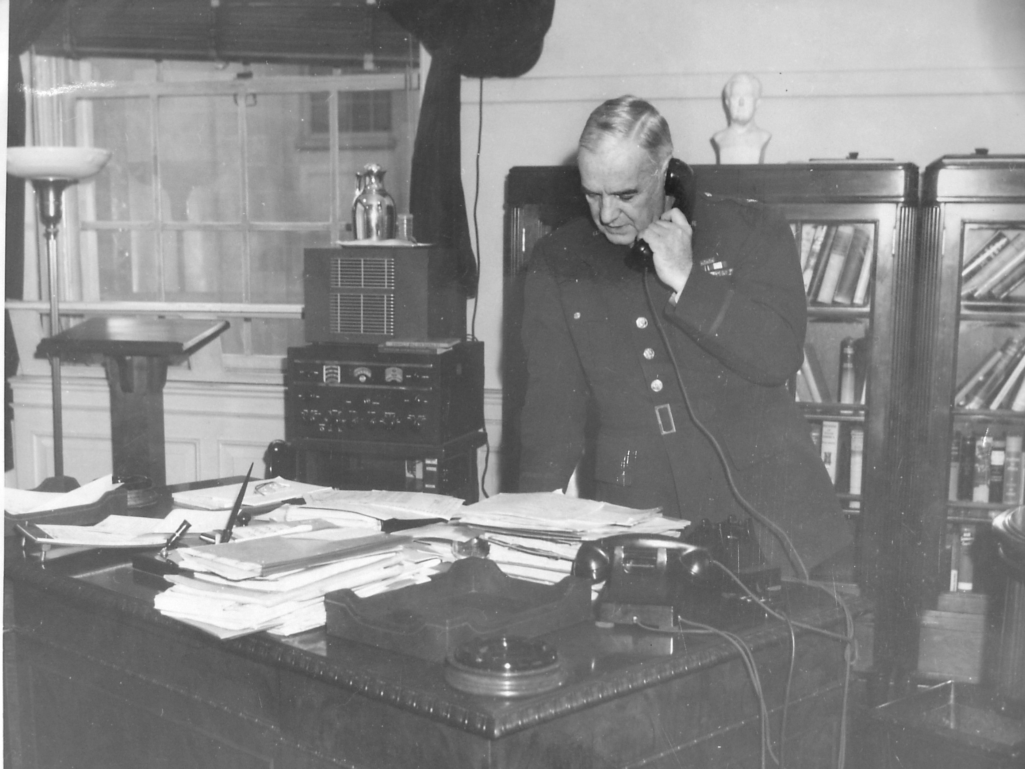 Donovan in his OSS headquarters office. U.S. Army Military History Institute