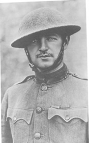 Sporting a mustache, Donovan was a hero in World War I, winning the Medal of Honor. U.S. Army Military History Institute